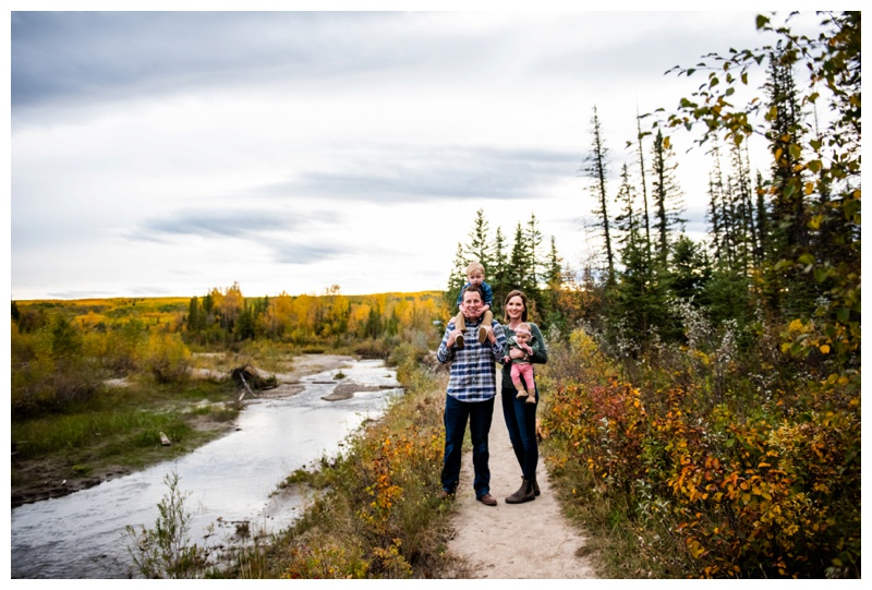 Griffith Woods Fall Family Photographers Calgary