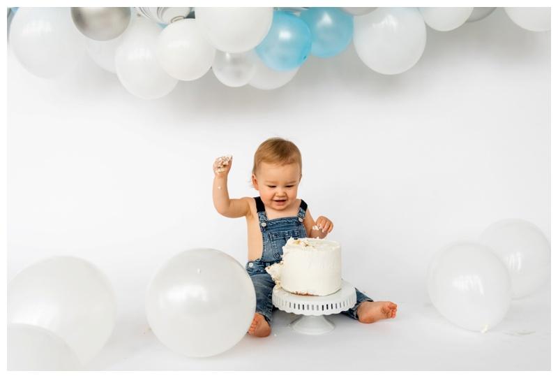 Calgary First Birthday Cake Smash Photographer