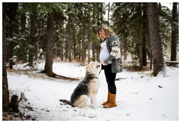 Calgary Winter Maternity Photography | Kelsey | Calgary Maternity Photographer