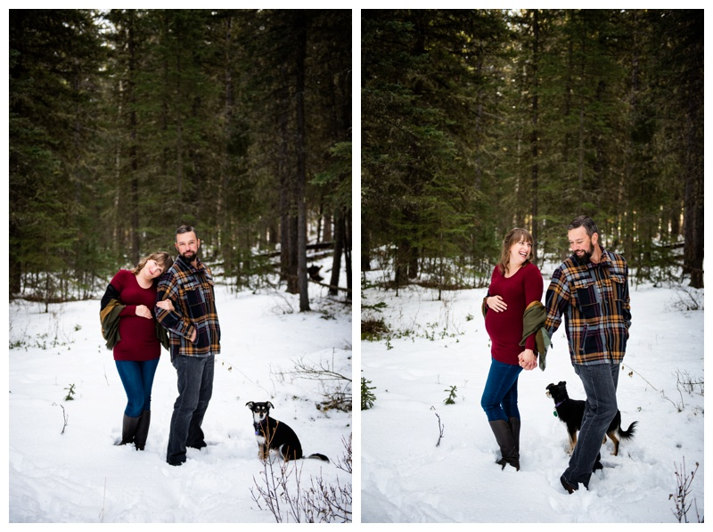 Calgary Winter Maternity Photographer