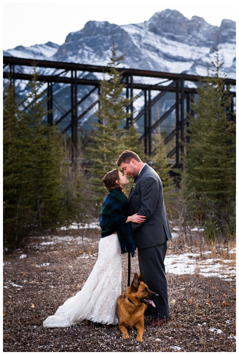 Canmore Winter Mountain Wedding - Canmore Cornerstone Wedding Photographer