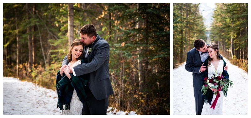 Canmore Winter Mountain Wedding - Canmore Cornerstone Wedding Photographers