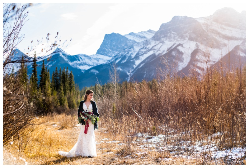 Canmore Winter Mountain Wedding - Cornerstone Wedding Photography