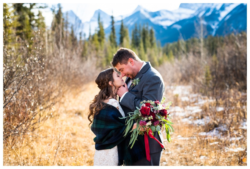 Canmore Winter Mountain Wedding - Cornerstone Wedding Photos