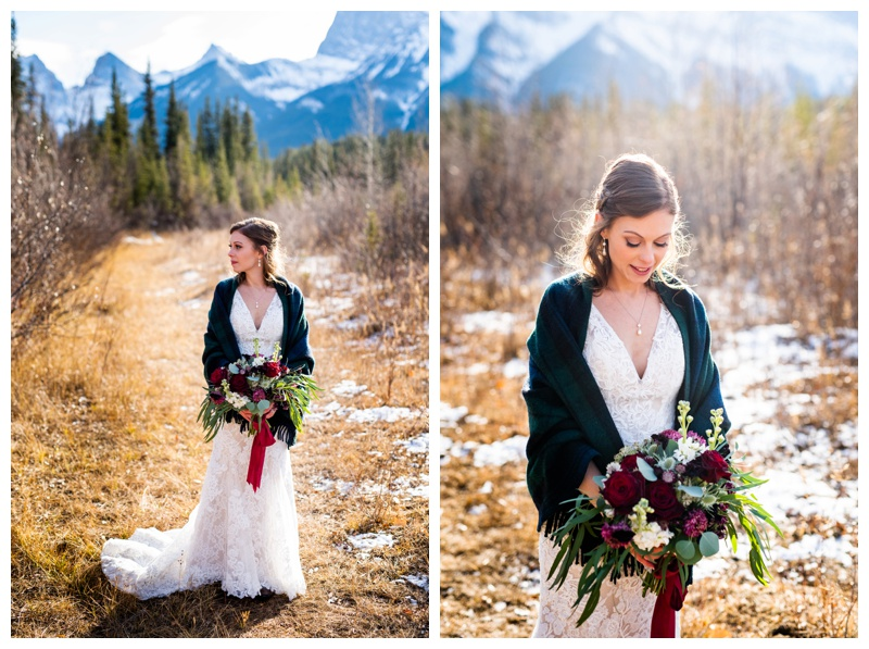 Canmore Winter Mountain Wedding - Cornerstone Wedding Venue