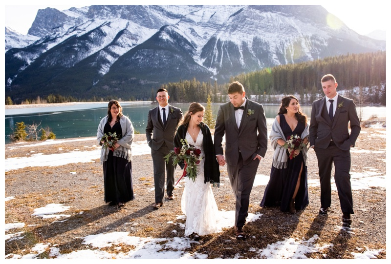 Canmore Winter Wedding Photographer