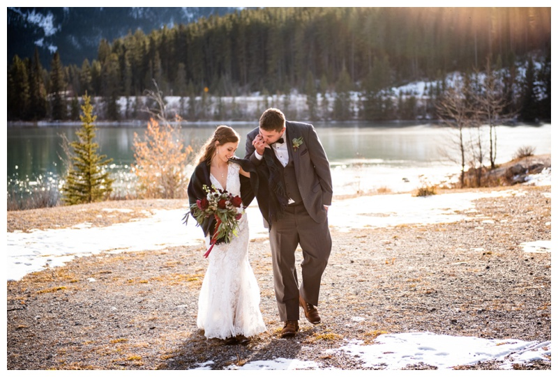Canmore Winter Wedding Photography