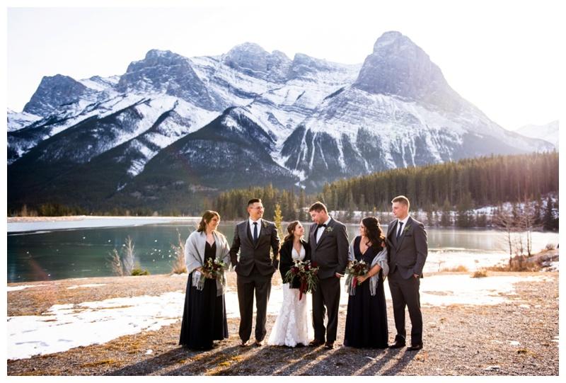 Canmore Winter Wedding Photos
