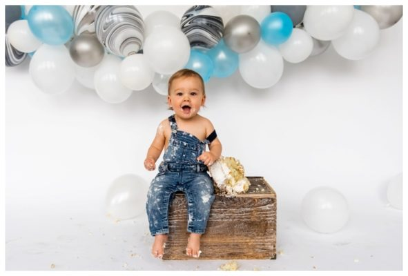 Calgary 1st Birthday Cake Smash | Koen is ONE! | Calgary Cake Smash Photographer