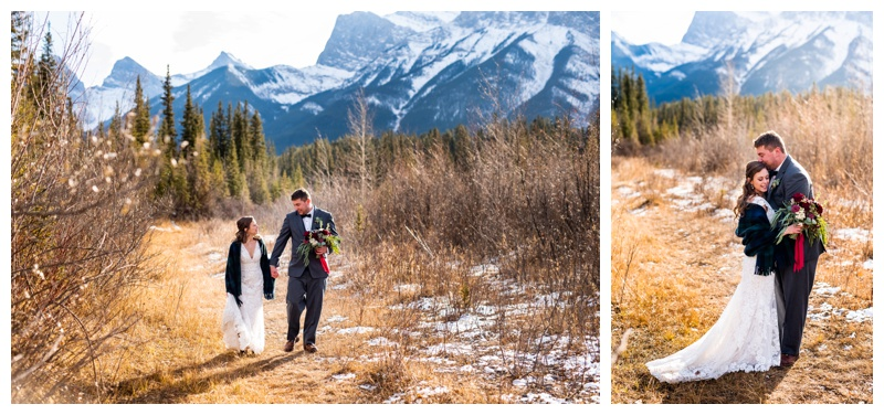 Winter Mountain Wedding - Canmore Cornerstone Wedding Photography
