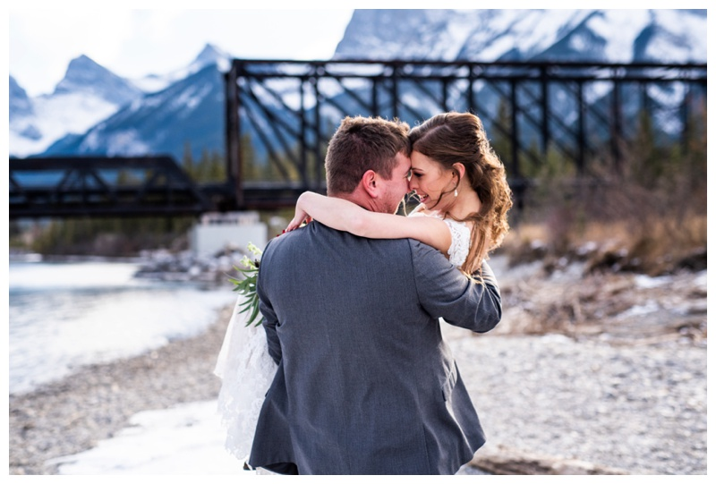 Winter Mountain Wedding - Canmore Cornerstone Wedding Photos