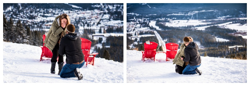 Banff Lookout Winter Proposal Photographer