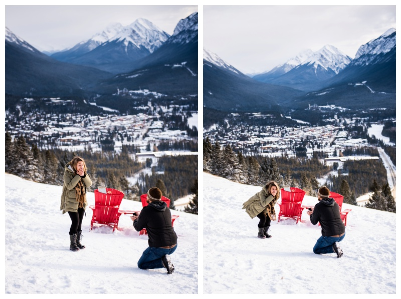 Banff Lookout Winter Proposal Photos