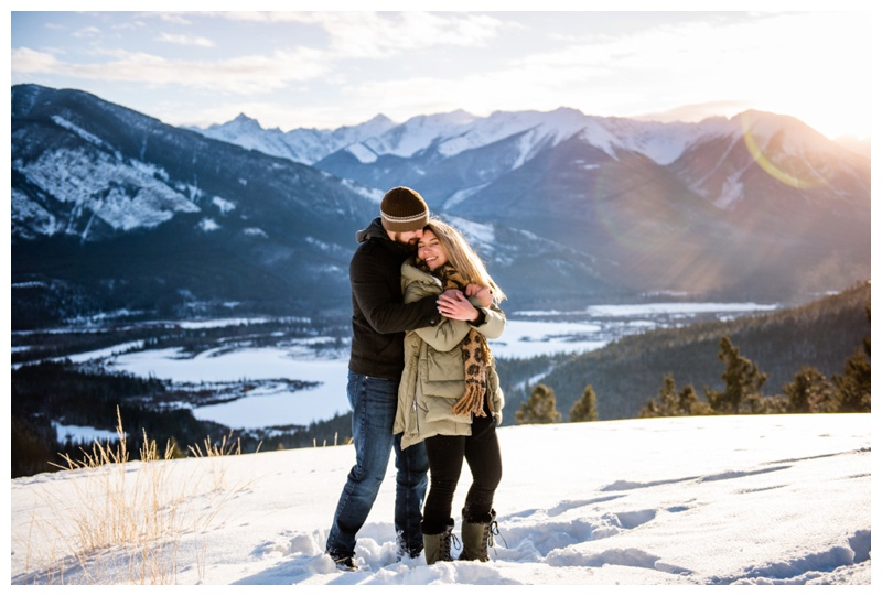 Banff Winter Engagement Photography