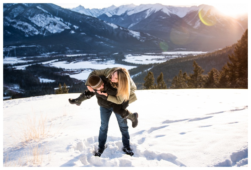 Banff Winter Engagement Photos