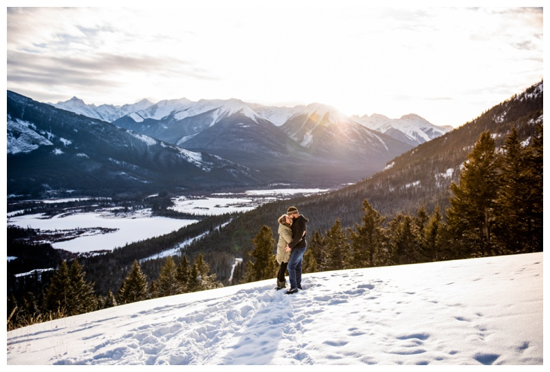 Banff Winter Wedding Proposal Photography