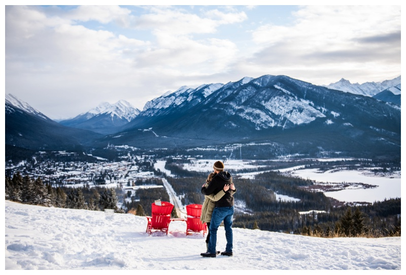 Banff Winter Wedding Proposal Photos