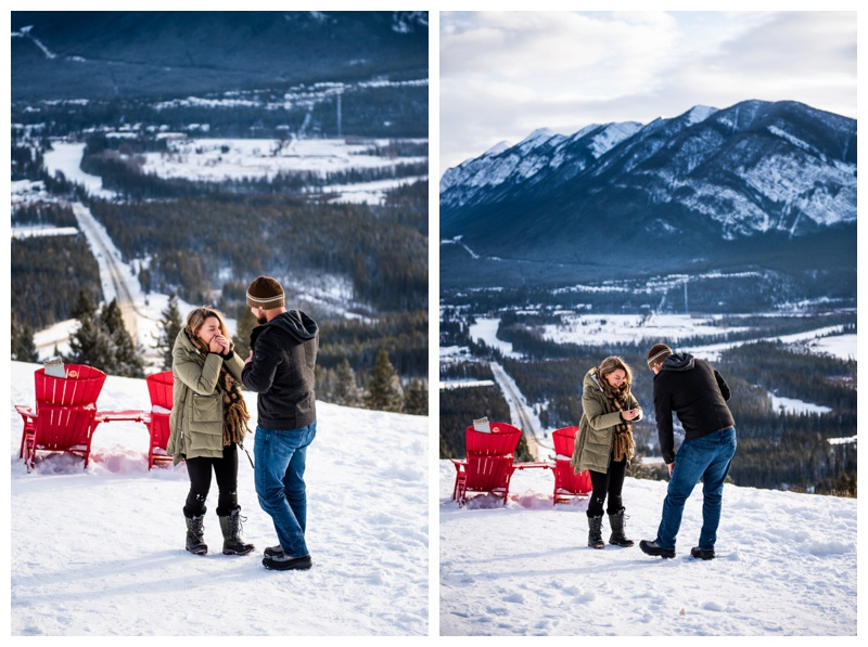 Banff Winter Wedding Proposal