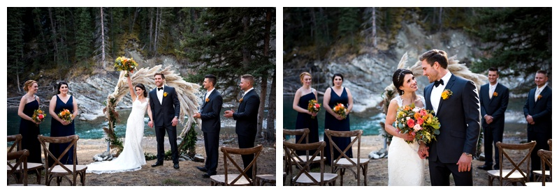 Ghost River Crossing Wedding Ceremony Photographer