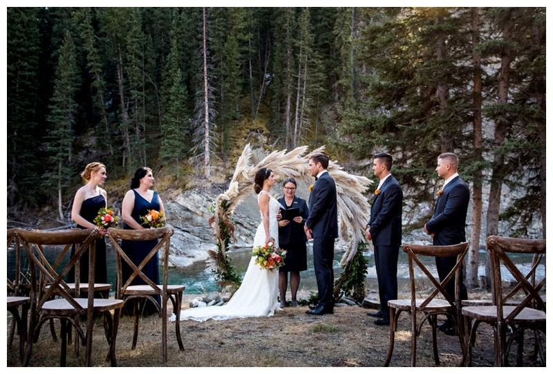 Ghost River Crossing Wedding Ceremony Photos