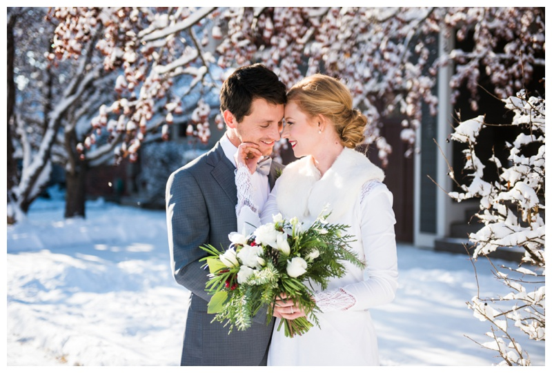 Scandinavian winter wedding Calgary Alberta