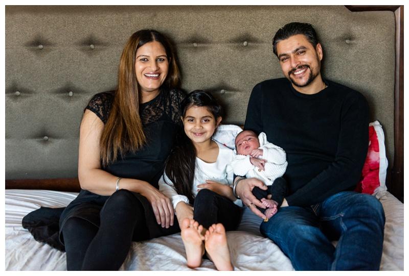 Calgary Winter In Home Newborn Photographers