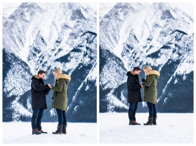 Lake Minniwanka Proposal Photography Banff