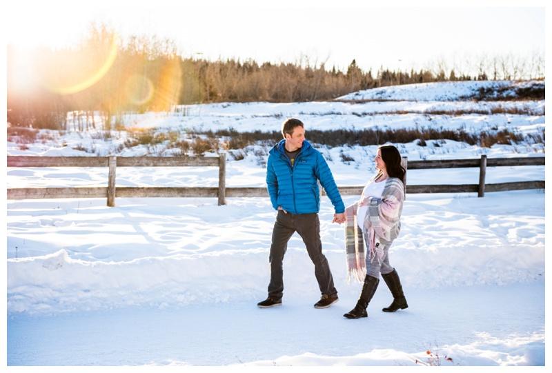 Winter Maternity Photography Calgary