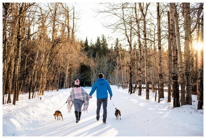 Winter Maternity Photography Session Calgary