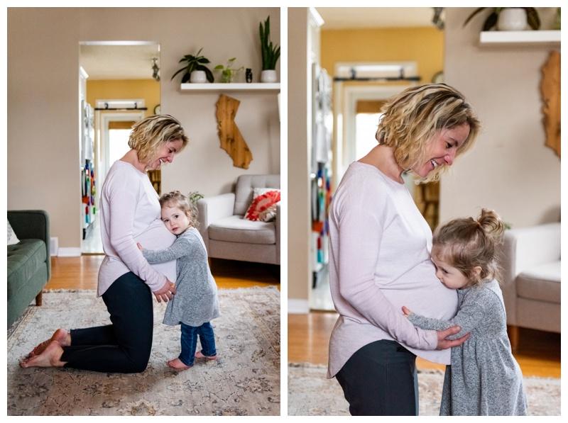 At Home Family Maternity Photography Calgary
