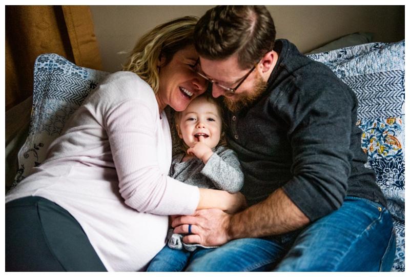 At Home Family Maternity Photos Calgary