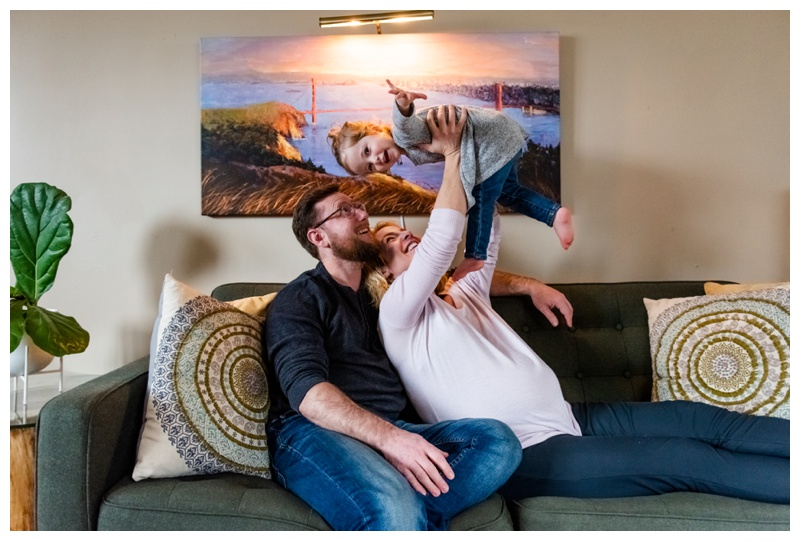 Calgary In Home Family Maternity Photographer