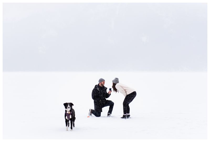 Rocky Mountain Winter Wedding Proposal Photos