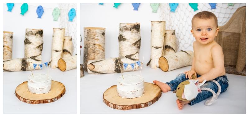Calgary Fishing Themed Cake Smash Photographer