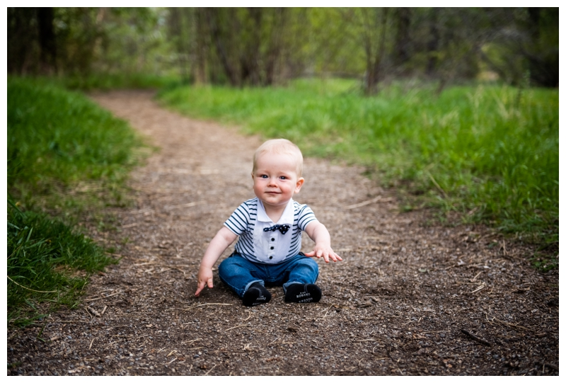 6 Month Old Sitter Session Calgary