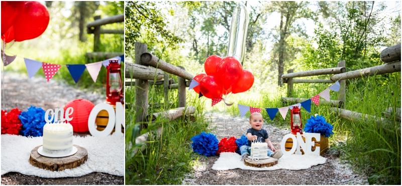 1st Birthday Cake Smash Photographer Calgary Alberta