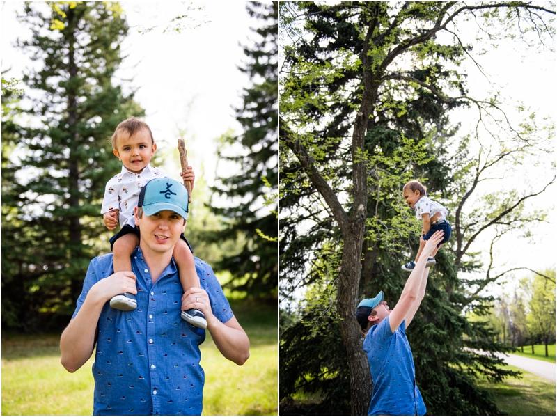 Calgary Baker Park Spring Family Photography