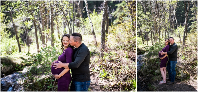 Calgary Big Hill Springs Park Maternity Session