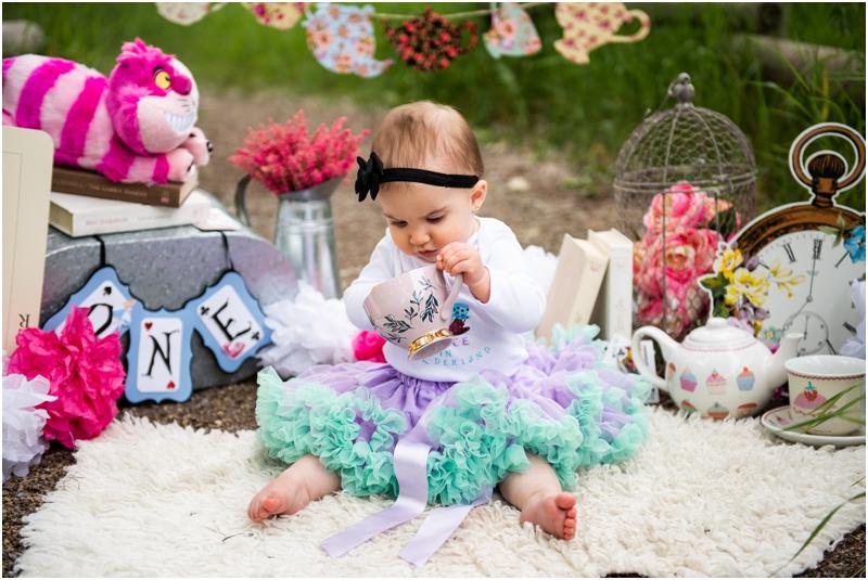 Calgary Cake Smash Photographers - Alice in Wonderland