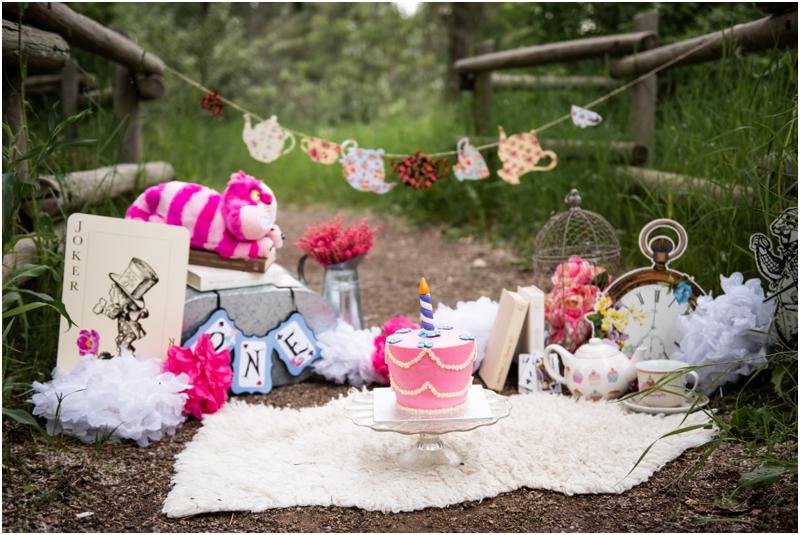 Calgary Cake Smash Photography - Alice in Wonderland