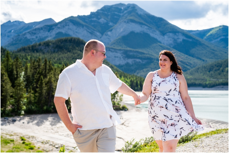 Mountain Engagement Photography - Barrier Lake