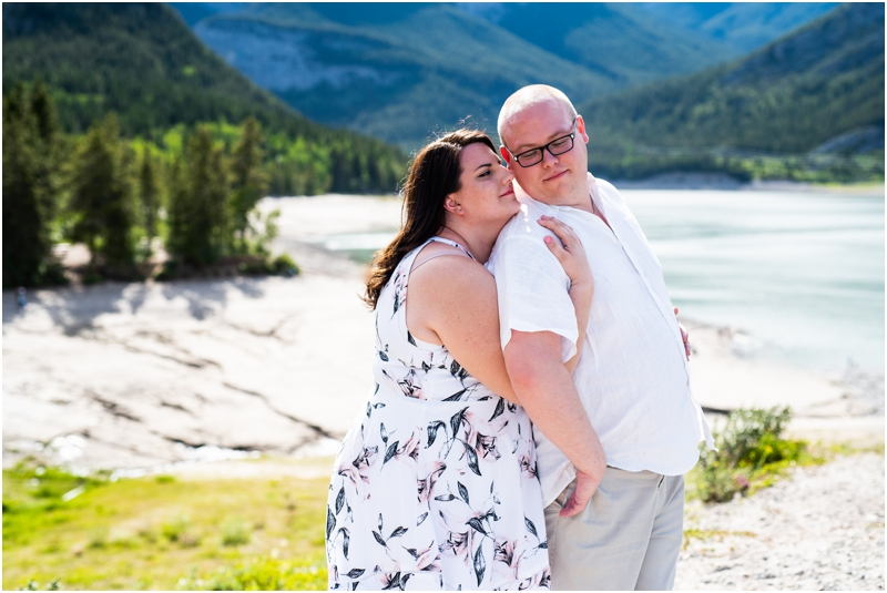 Mountain Engagement Photos - Barrier Lake