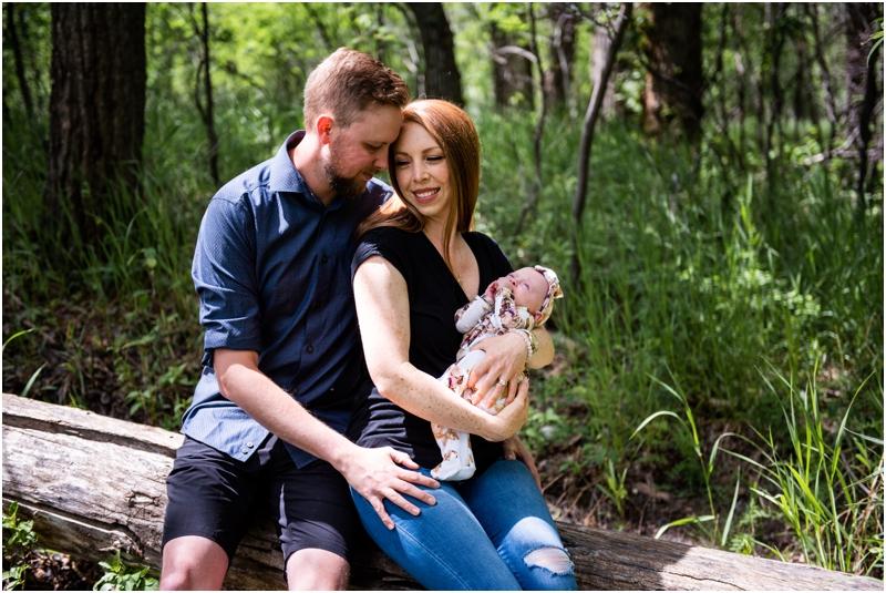 Outdoor Calgary Newborn Photography