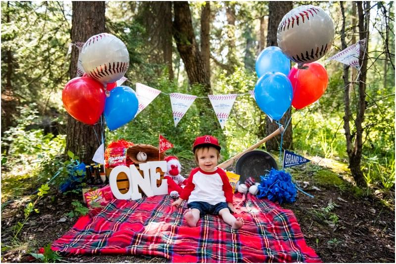 Baseball Theme First Birthday Cake Smash