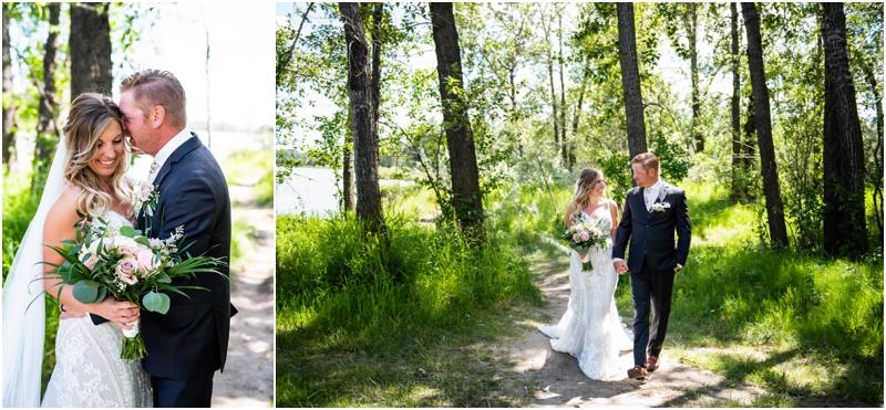 Calgary Carburn Park Wedding Photographer - Bride & Groom Portraits