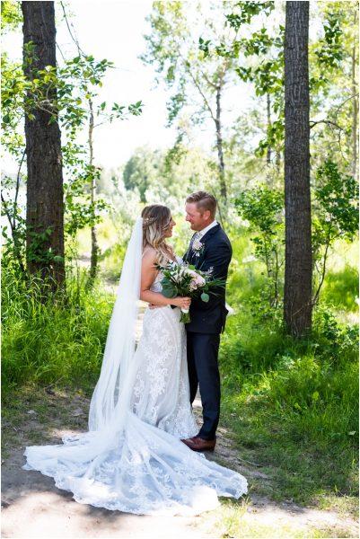 Calgary Carburn Park Wedding Photography - Bride & Groom Portraits