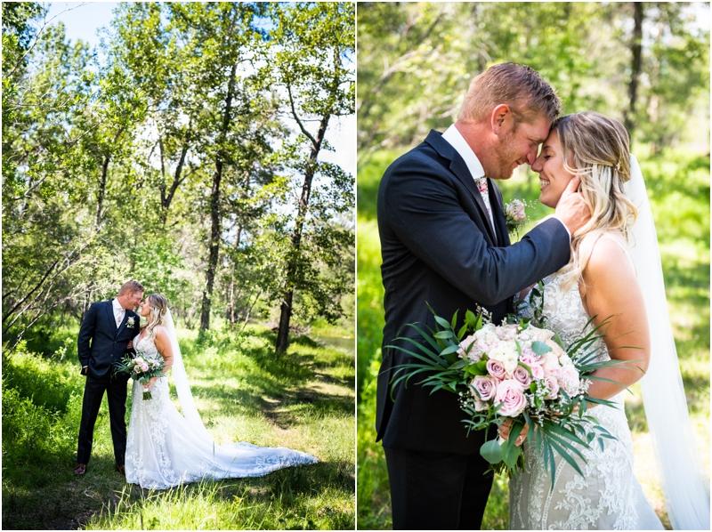 Calgary Carburn Park Wedding Photos - Bride & Groom Portraits