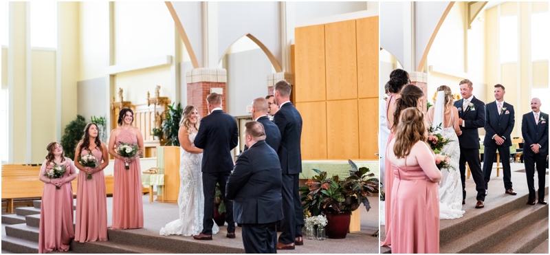 Calgary Catholic Church Wedding Ceremony Photographers