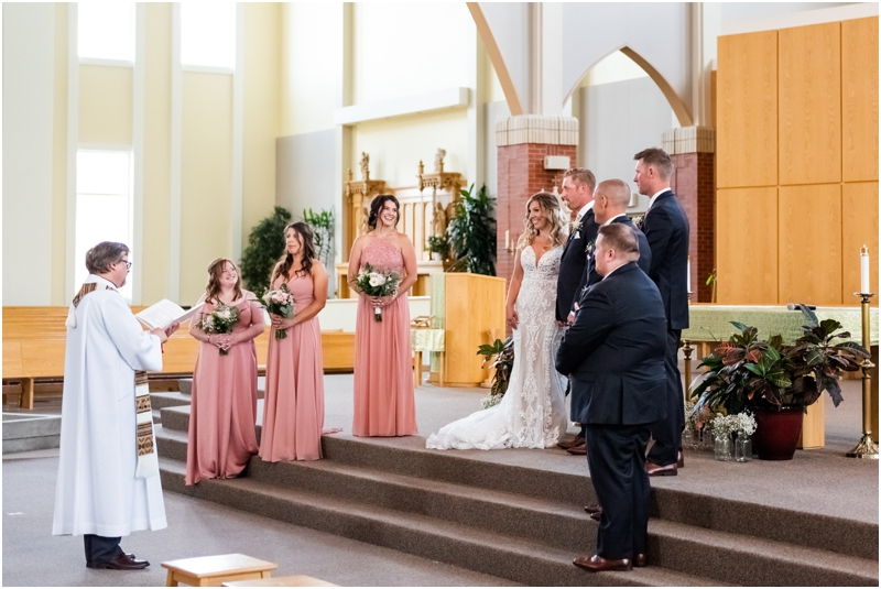 Calgary Catholic Church Wedding Ceremony Photography