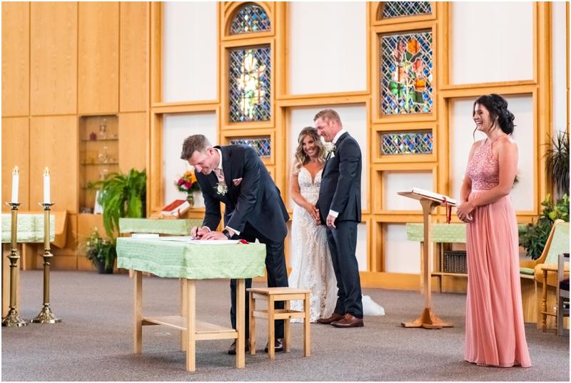 Calgary Church Wedding Ceremony - Mackenzie Towne Calgary Ab